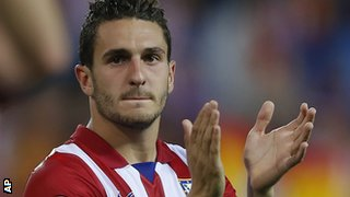 Atletico Madrid player Koke after their Champions League win over Barcelona