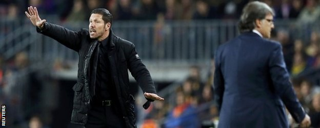 Diego Simeone and Gerardo Martino