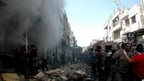 VIDEO: Homs double car bombing 'kills 25'