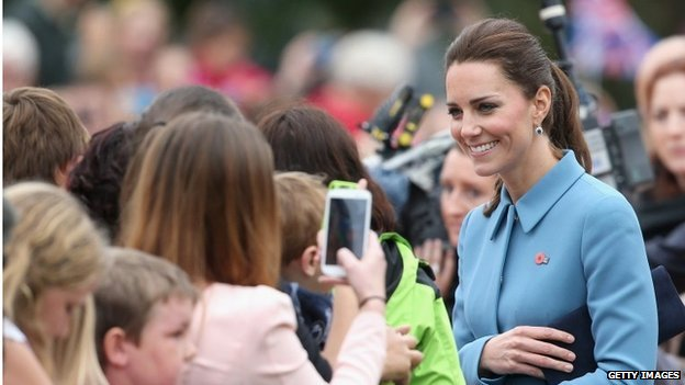 Duchess of Cambridge on walkabout