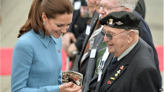Duchess of Cambridge meeting veterans