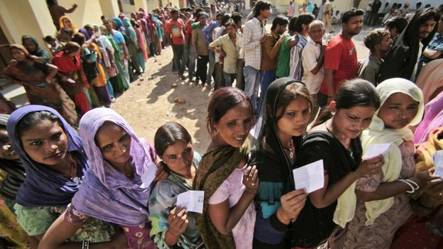 Voting is taking place in 92 seats spread across 14 states
