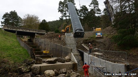 Archimedean screw installed at Cragside