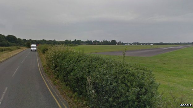 The runway at Denham Aerodrome