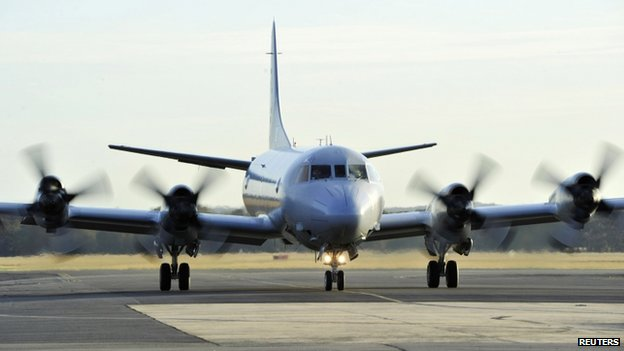 File photo: An Australian RAAF P-3 Orion returns to Base Pearce after a day of searching an area in the Indian Ocean for the missing Malaysia Airlines Flight MH370, 8 April 2014