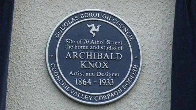 Plaque for Archibald Knox's IoM home
