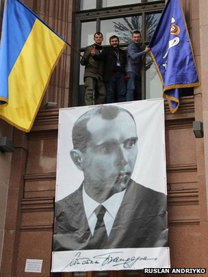 Original poster hanging in Kiev