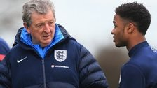 Roy Hodgson and Raheem Sterling