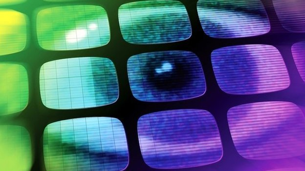 Eye on computer screen