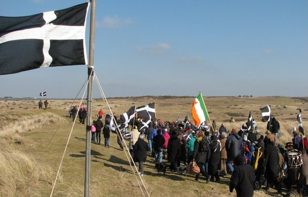St Piran's day procession