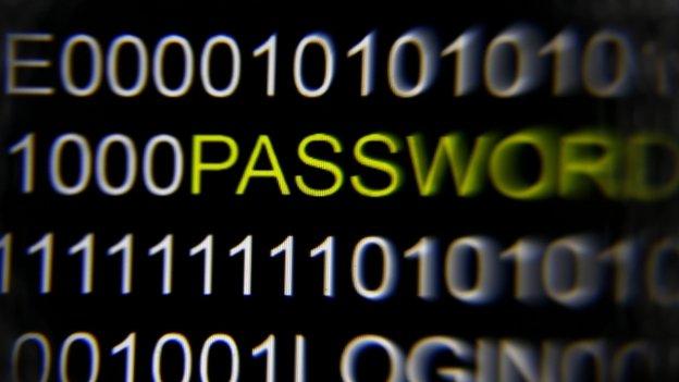 Password in list of code