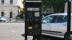Solar-powered parking meter