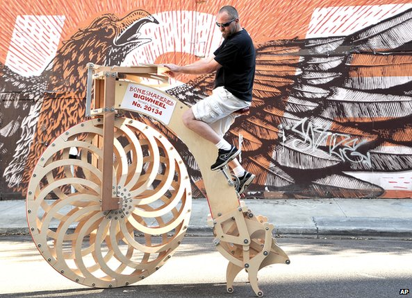 Boneshakered Bigwheel bike