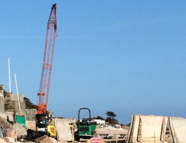 Repairing sea wall