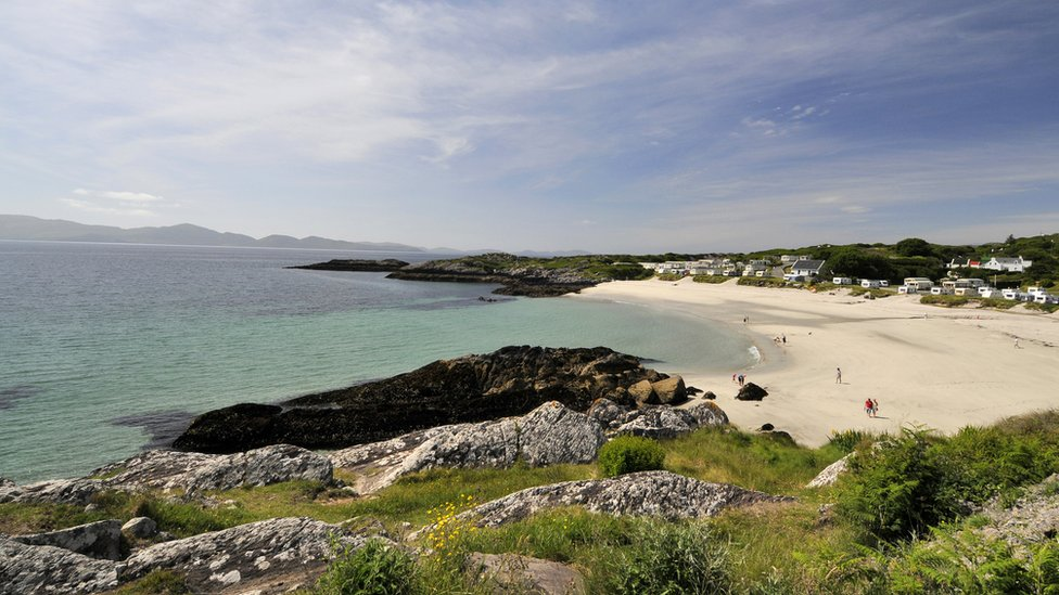 View of the the bay of Cahirsiveen, in County Kerry, southwest Ireland