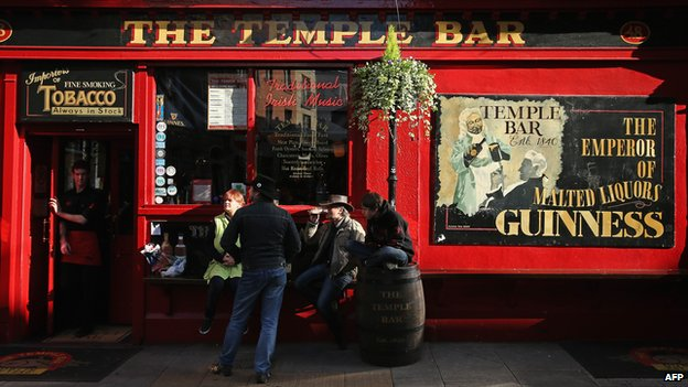 Pub in the Temple Bar area of Dublin