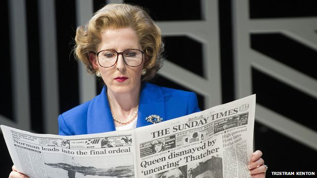 Fenella Woolgar as Mags in Handbagged