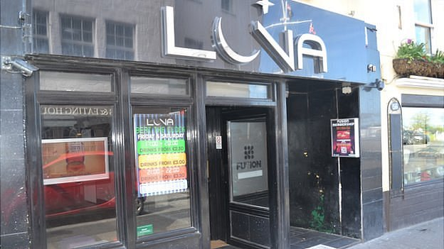 Luna bar and Fusion nightclub in Guernsey