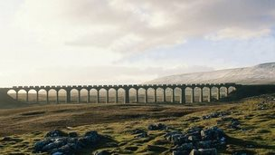FC-Freight crossing Ribblehead Viaduct