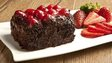 chocolate cake and strawberries