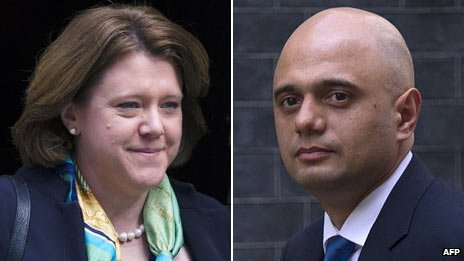 Maria Miller and Sajid Javid