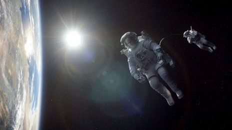 A scene from Gravity