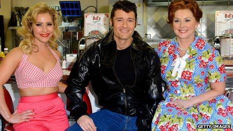 Happy Days stars Heidi Range, Ben Freeman and Cheryl Baker