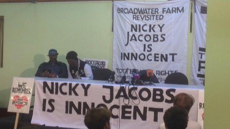 Press conference for Nicholas Jacobs