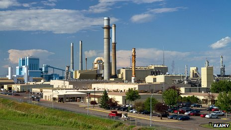 Great Plains Synfuels plant in US