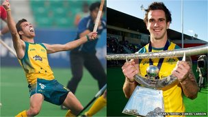 Jake Whetton and Kieran Gover - Australian Hockey Team