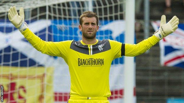 Rangers goalkeeper Cammy Bell