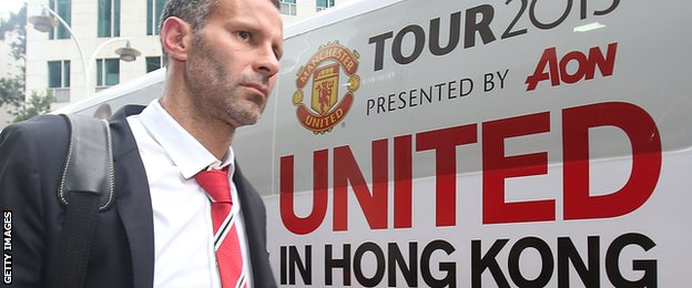 Ryan Giggs pictured during the club's 2013 Asian tour