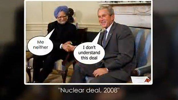 Manmohan Singh's Facebook LookBack video