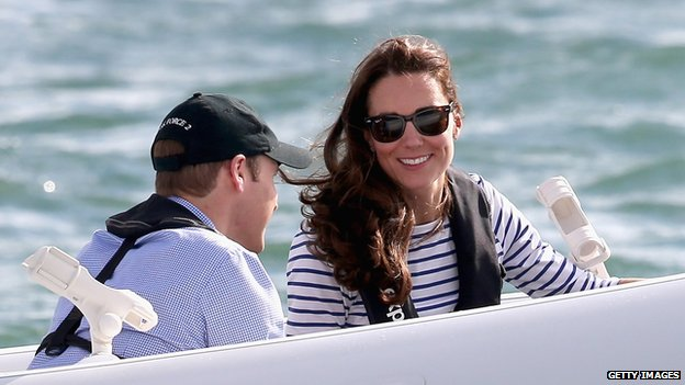 The couple looked relaxed on day five of their trip