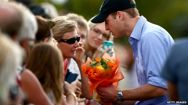 Prince William meets well-wishers on Friday