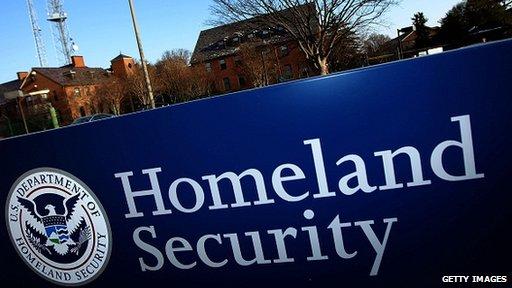 Homeland security sign