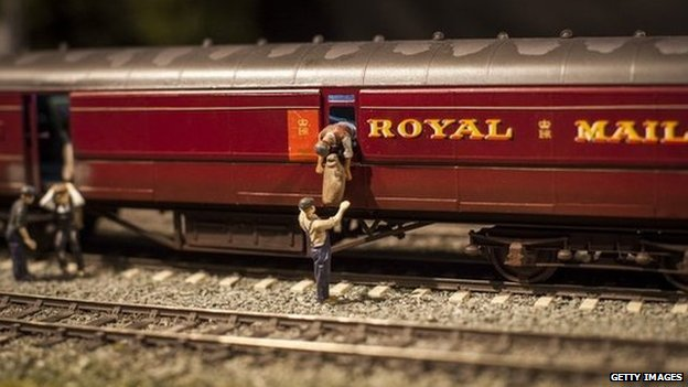 Scene from Luton Model Railway Club's recreation of the Great Train Robbery