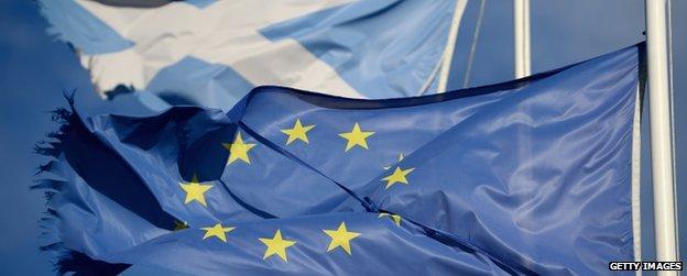 European flag and saltire