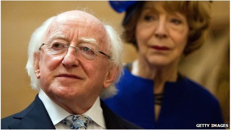 Michael D Higgins and his wife