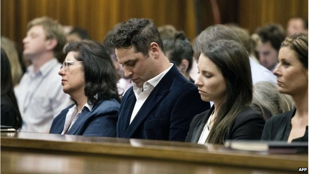Relatives of South African Paralympic athlete Oscar Pistorius, in court