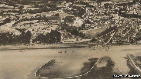 Aerial view of West Park pool
