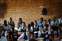 Students take notes during an English language class at the Juba Nabari Primary School, in Juba, South Sudan