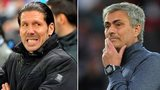 Atletico Madrid manager Diego Simeone and Chelsea manager Jose Mourinho