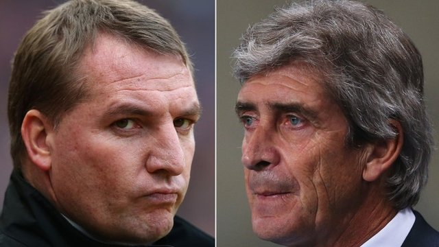 Brendan Rodgers and Manuel Pellegrini