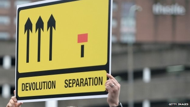 Devolution/separation sign