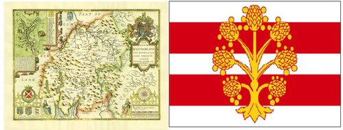 Map and flag