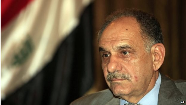 Iraqi Deputy Prime Minister Saleh al-Mutlaq during an interview with The Associated Press in in May 2013