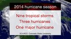 Graphic showing 2014 hurricane season information