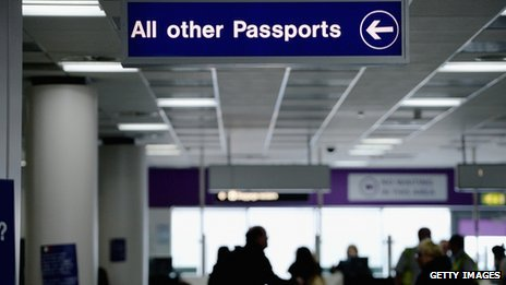 Border control at Edinburgh Airport - 10 February 2014