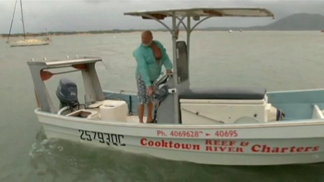 Man on boat in Cooktown